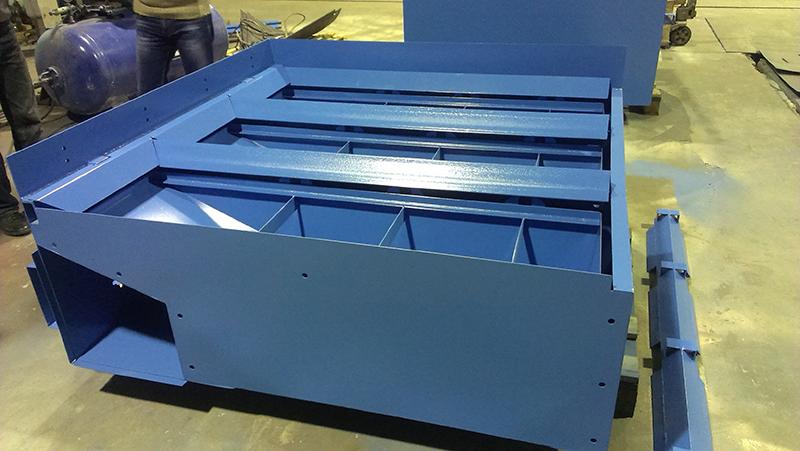 Секционный стол для плазменной резки металла для компании «Weber CoMechanics»