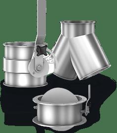 Элементы систем промышленной аспирации